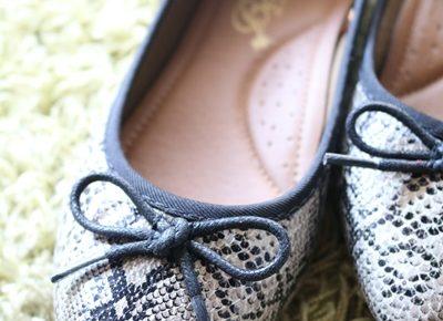 小さいサイズの靴 フラットシューズ  ポインテッドシューズ