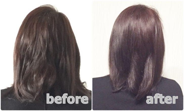 【激変写真!】こんなに変わるの!?髪質がサラツヤになるミネコラパーフェクト3の口コミ