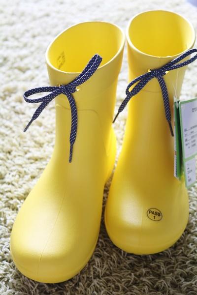 クロックス クロックス フリーセイル ショーティー レイン ブーツ ウィメン 黄色