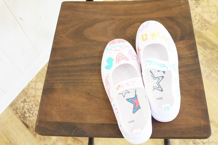 """ベルメゾン主催『上靴アート』で""""自由に描くことの楽しさ""""を子供が体験しました!"""