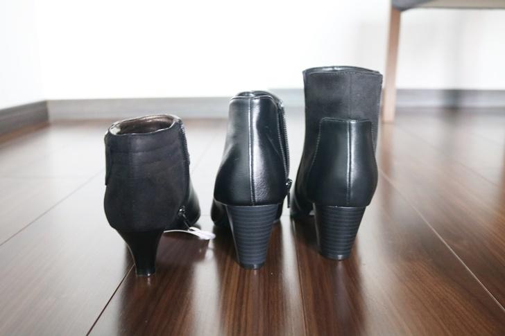 ショートブーツ履き比べ