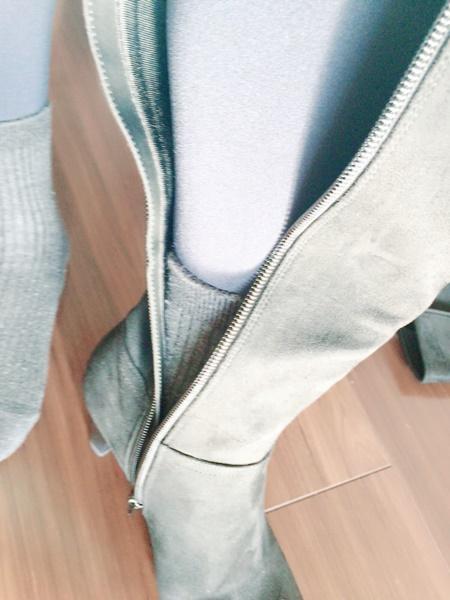 靴下でブーツ