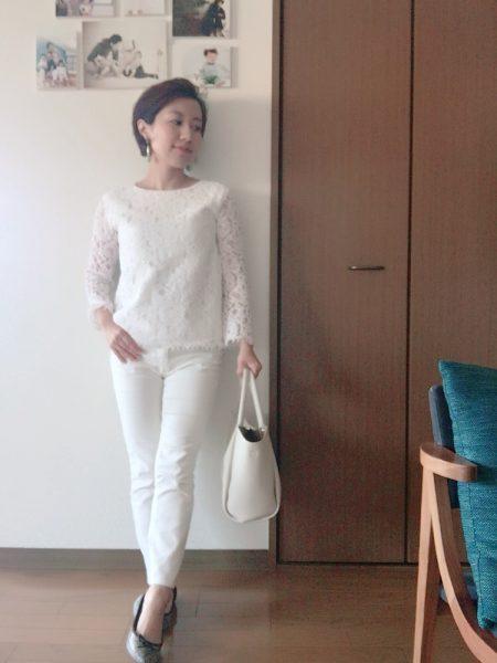 ファッションレンタルした服で、春の小柄コーディネート