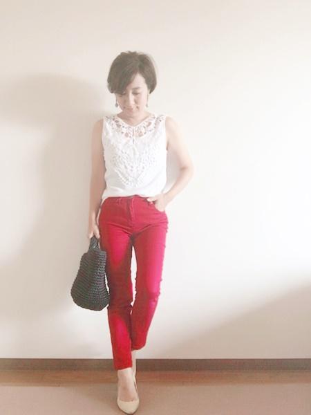 30代女性 低身長コーデ