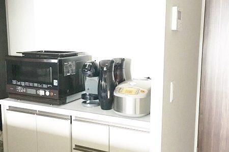 引っ越ししました!キッチンのこだわりは、使い勝手も良い「ゴミ箱を隠す収納!」