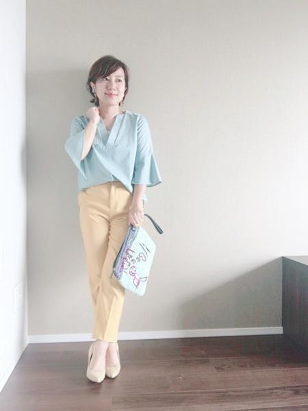 エアークローゼットの服でコーデ 40代写真