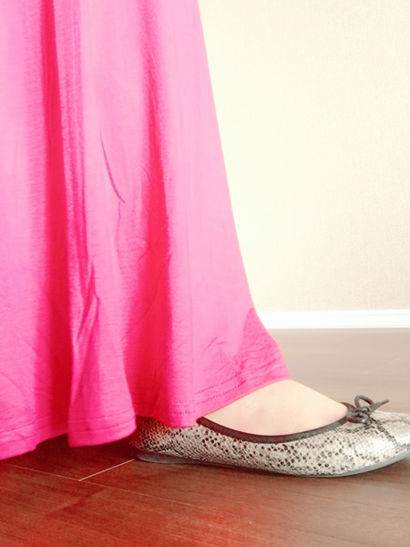 cocaマキシスカート ペタ靴