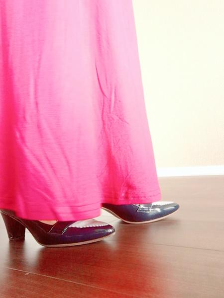 綺麗目パンプスにマキシスカートは合う?