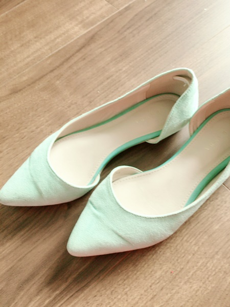 マキシスカートにあう靴 ペタ靴