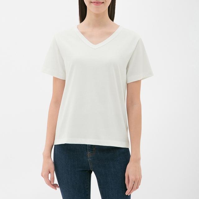 VネックTシャツ GU