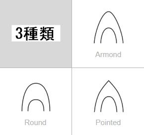FAMZON(ファムゾン)パンプスの形は3種類