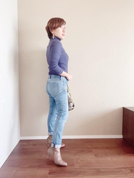 小さいサイズのブーツコーディネート