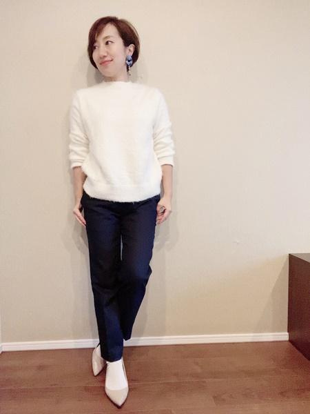 シンプルな服のコーディネート例