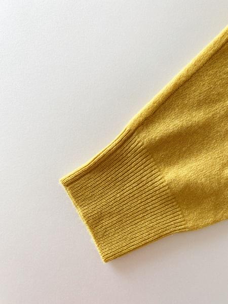 カシミヤセーター 袖口