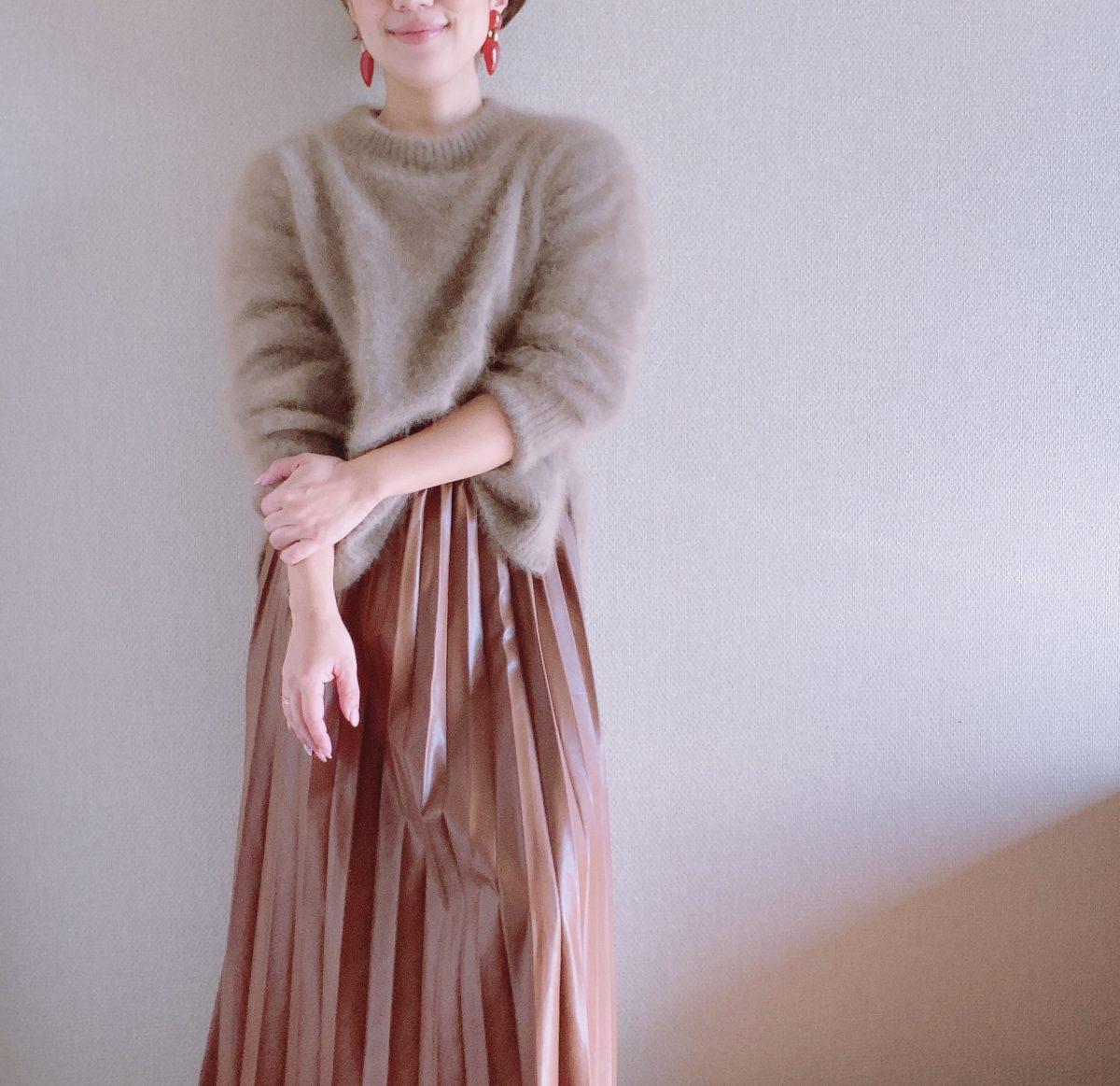 プリーツスカート 小柄