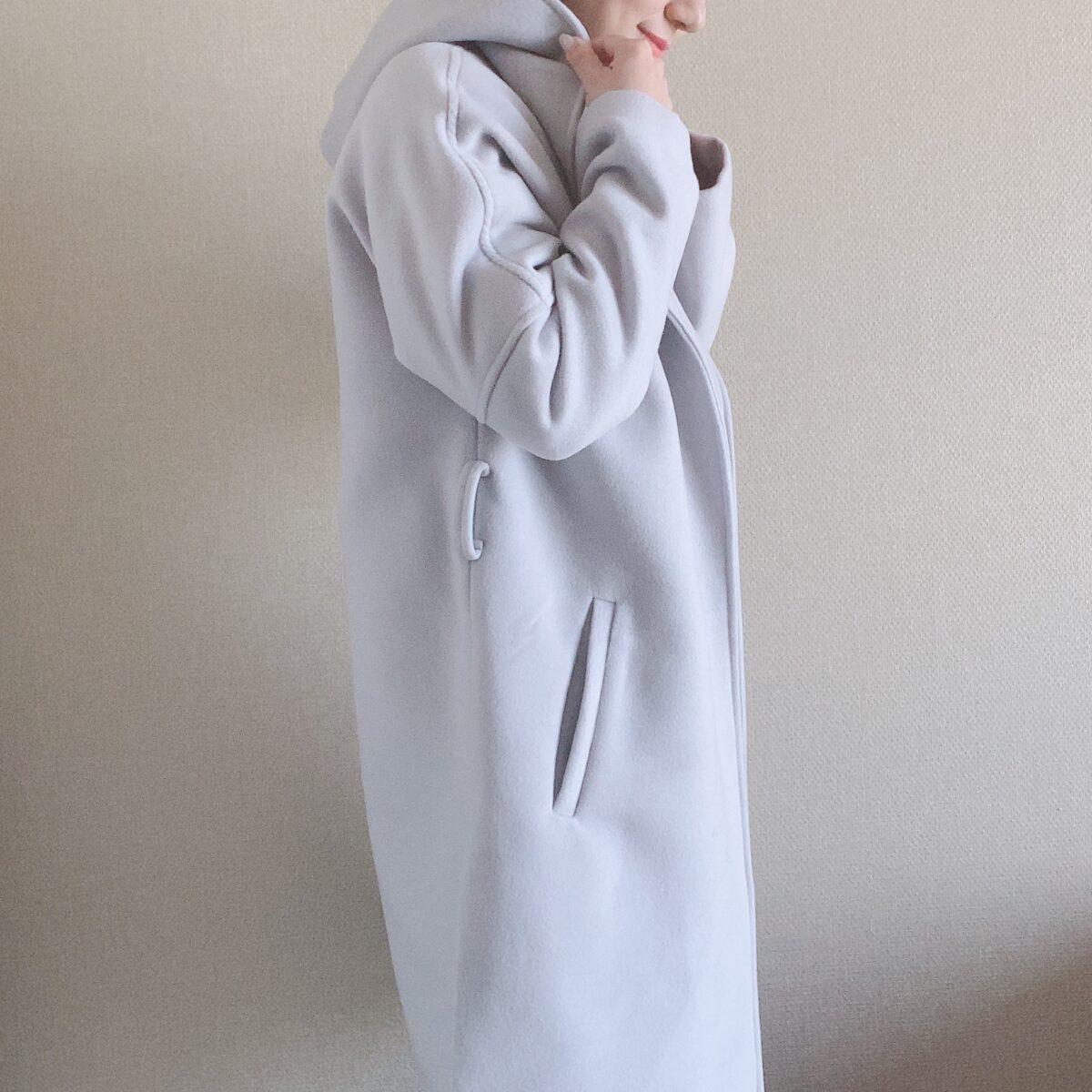 シルエットがきれい 小柄に似合うコート