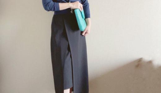 このタイトスカートなら小柄でも穿きやすい!シルエットが綺麗にキマるレイヤード風タイトスカート
