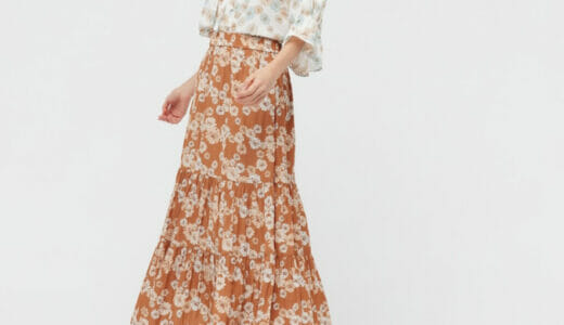当ブログの読者さんが教えてくれました!ユニクロの「ポール&ジョー」の花モチーフスカートが良かったよ!